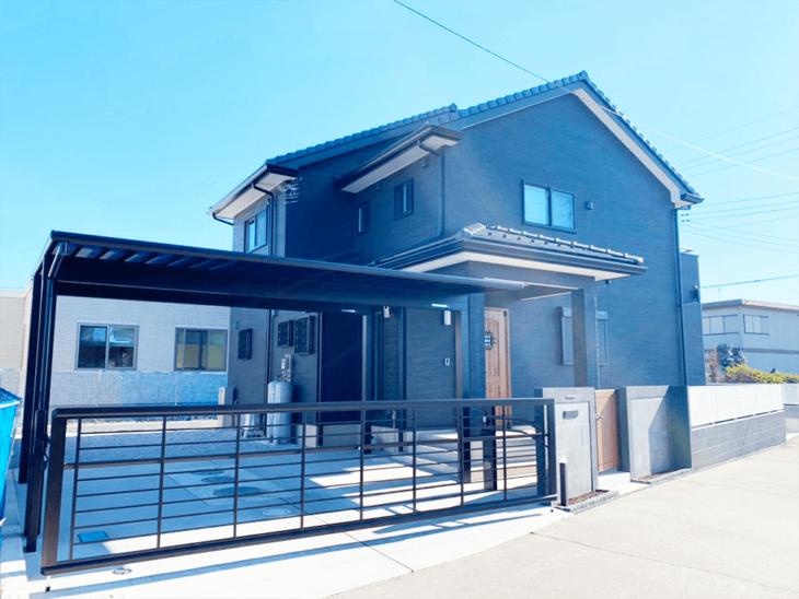 黒を基調としたお家の駐車場・門回り・フェンス新設事例